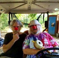 Bob Weir and Wavy Gravy Clownin' Around
