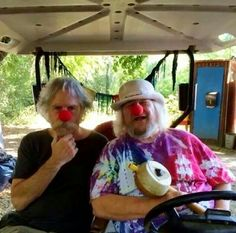 Bob Weir and Wavy Gravy Clownin' Around
