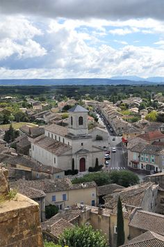 View on Suze la Rousse village from the castle - Read more on this beautiful village on http://atasteofmylife.fr