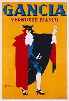 Gancia Vermouth Bianco poster manifesto #vintage #original #drink www.posterimage.it