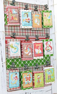 Christmas Advent Calendar, 12 Days of Christmas by Tina Walker for Hazel & Ruby, using DIY Decor Tape