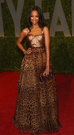 Actress Zoe Saldana arrives at the 2009 Vanity Fair Oscar Party hosted by Graydon Carter held at the Sunset Tower on February 22, 2009 in West Hollywood, California.
