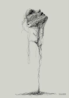 Untitled by Gor Gyurjyan – A Level Art Sketchbook - Water Dark Art Drawings, Pencil Art Drawings, Art Drawings Sketches, Inspiration Art, Art Inspo, Stylo Art, Art Du Croquis, Scribble Art, Charcoal Art