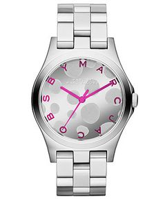 Marc by Marc Jacobs Watch, Women's Henry Stainless Steel Bracelet 37mm MBM3266 - Women's Watches - Jewelry & Watches - Macy's