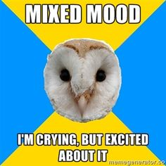 Bipolar Owl on mixed moods