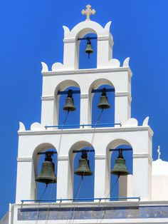 Photograph-Bell tower in Oia village, Santorini, Greece-Photograph printed in the USA Fine Art Prints, Framed Prints, Canvas Prints, Mexico Resorts, Santorini Greece, Greek Islands, Photo Mugs, Photo Gifts, Photographic Prints