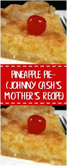 Ingredients 1 1/2 cups sugar 1/2 cup butter 1 cup crushed pineapple 3 tablespoons flour 1 teaspoon vanilla 2 eggs 1 unbaked pie shell Directions Beat together all ingredients. Pour into unbaked pie shell and bake 50 minutes