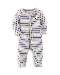 Ralph Lauren Infant Boys' Rugby Stripe Footie - Sizes Newborn-9 Months