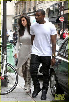 Kim Kardashian & Kanye West in Paris