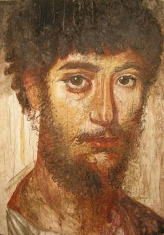 Fayum mummy portrait100CE - 300CE Fayum / Romano-Egyptian / Roman / EncausticMore Pins Like This At FOSTERGINGER @ Pinterest