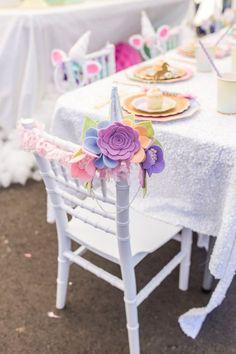 Floral unicorn headband from a Magical Unicorn Birthday Party on Kara's Party Ideas | KarasPartyIdeas.com (34)