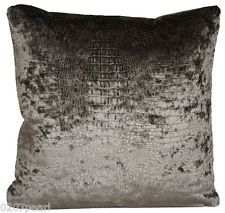 Alligator Skin Cushion Cover Velvet Shimmery Fabric Limpopo Osborne and Little Textile Throw Pillow Cases, Decorative Throw Pillows, Grey Cushion Covers, Osborne And Little, Velvet Pillows, Fabric Patterns, Cushions, Etsy, Color