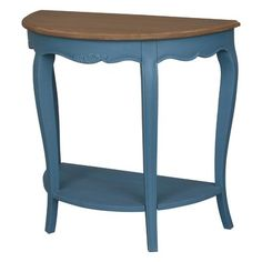 August Grove Madison Half-Moon Console Table Color: Antique Blue