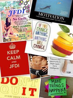 Motivation board for Michelle Bridges 12wbt