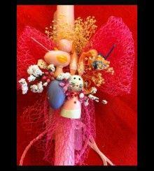 Πασχαλινές Χειροποίητες Λαμπάδες  www.bythebook.gr Λαμπάδα HM24 Christmas Ornaments, Holiday Decor, Home Decor, Decoration Home, Room Decor, Christmas Jewelry, Christmas Decorations, Home Interior Design, Christmas Decor