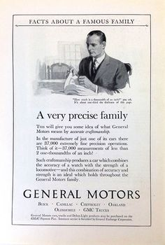 General Motors car ad. 1924.