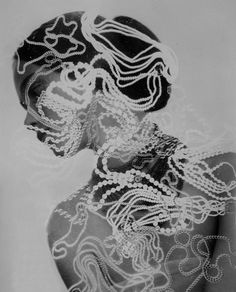 photogram over black & white photo... - ☯ www.pinterest.com/WhoLoves/Black-White ☯ #black #white #art