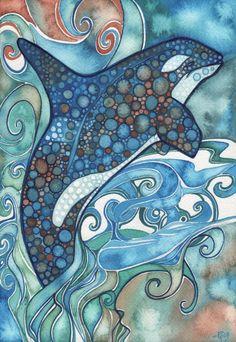 Tamara Phillips | WATERCOLOR | Orca