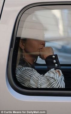 Back to the Big Apple: After hopping in the SUV, Ivanka rested her elbow on the window as ...