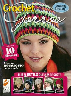 REVISTAS DE MANUALIDADES GRATIS: Crochet especial gorros