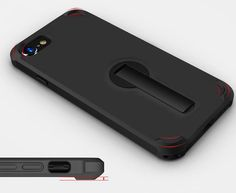 360 Degree Rotating Stand Shock Absorbing TPU Corner with Air Cushion Tech for iPhone 7 BLACK COLOUR [COMPATIBLE WITH APPLE IPHONE 7 4.7 INCH 2016 ]: iPhone 7 protective case fit for iPhone 7, featuring 360 degree rotatable kickstand which is made of premium materials with long lasting durability. [SHOCK ABSORPTION TECHNOLOGY]: added 4 shockproof air cushion corners which is effectively protect your phone from drops and impacts. [BUILT-IN 360 DEGREE ROTATABLE STAND]: offer you a optimal…