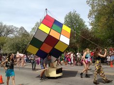 My favorite float in the Big Parade in Oberlin, Ohio this year (2013.)