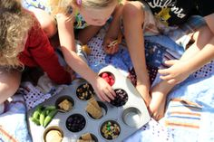 Muffin Tin Lunch - simple and fun idea to switch things up for kids!