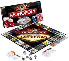 Las Vegas Monopoly 2009 edition - Games & Puzzles Games Description: Buy, sell and trade the most popular hotels and casinos in Las Vegas right now! Wheel and deal Caesars Palace, Bellagio, Planet Hol