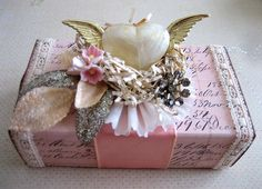 https://flic.kr/p/7vt6Gn | Petite Inspiration Box Swap Valentine's Edition | This is my first swap outside of the Marie Antoinette Mail Art Group.  I really had a lot of fun creating these and gathering beautiful items for inside.  I hope the ladies like them.  Enjoy.