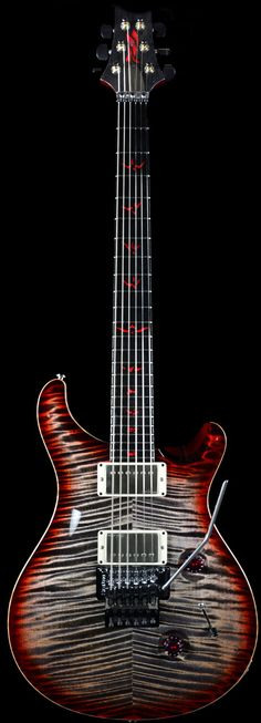 PRS Private Stock Custom 24 Vampire Floyd Charcoal Cherry Burst w/ Floyd Rose. For those who sleep during the day!