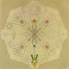 Emma Kunz was a healer and visual artist who has only broken into the art world posthumously. Her images are reminiscent of Buddhist maps of the unive. Tantra, Illustrations, Illustration Art, Design Observer, Spirograph, Action Painting, Mystique, Sacred Geometry, Geometry Art