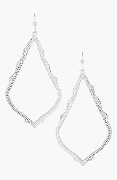 Free shipping and returns on Kendra Scott 'Sophee' Textured Drop Earrings at Nordstrom.com. An intricate, delicate design enriches these scalloped, statement-size earrings.