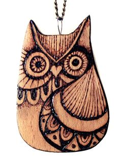 Learn how to create this whimsical owl in Pyrography Spring 2016. Order a copy of Pyrography Spring 2016 at http://woodcarvingillustrated.com/blog/the-spring-2016-pyrography-special-issue-is-available-now/