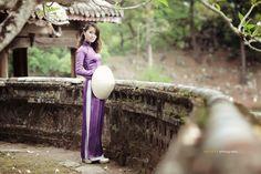 Vietnam Tradition violet Long Dress  by Jet Huynh, via 500px