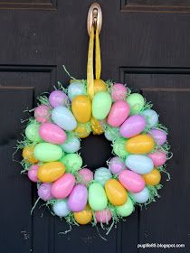 Pug Life: DIY: Easter Egg Wreath