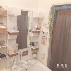 Minoriさんの、ナチュラル,賃貸でも楽しく♪,賃貸,極狭アパート,ダイソー,seria,セリア,Daiso,洗面台,バス/トイレ,のお部屋写真