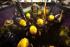 ASU Players in the Tillman Tunnel preparing to take the field at Sun Devil Stadium. Pat will be remembered by leading the players onto the field in every game here on out. RIP PT 42