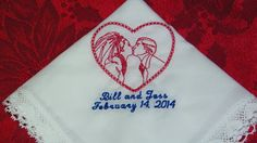 Personalized BRIDE and GROOM Kissing Heart by mrsstitchsboutique, $14.95