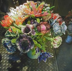 Bead Flowers. Wedding Bouquets?Yes!