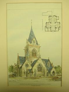 Christ Church Memorial, Danville, PA, 1881, H. M. Congdon