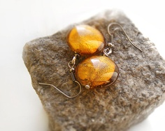 Venetian glass earrings by kapelusznik, $12.90
