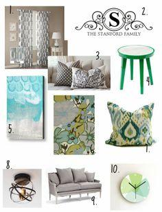 Belvedere Designs: Mood Board {Elegant Yet Livable Family Room}