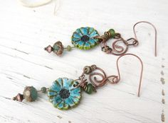 Coeur De Parfum : des boucles d'oreille comme une fraîche mélodie .... : Boucles d'oreille par les-reves-de-minsy