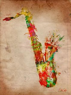 Sexy Saxophone is a digital watercolor painting, perfect artwork for any music lover or musician!    You can see more of my artwork on my website, http://BookSmithStudio.com or purchase fine art prints at http://nikkimarie-smith.artistwebsites.com    Copyright 2012 Nikki Smith of BookSmithStudio.com; All Rights Reserved.