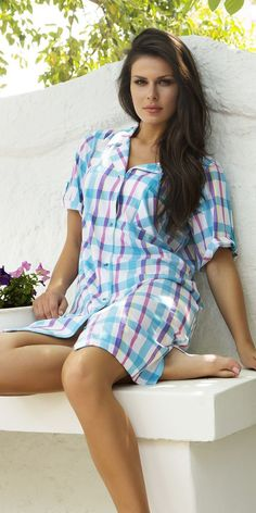 Chemise Nightdress 100% Cotton | Homewear| Vamp! Ladies Chemise Nightdress 100% Cotton 4497 Ss 15, Cover Up, Beautiful Women, My Favorite Things, Lady, Natural, Board, Cotton, Collection