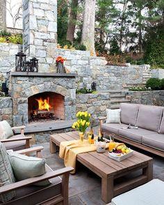 Aussenküche Gemauert ideen für terrassengestaltung außenküche gemauert aus stein kamin