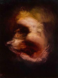 Johan Van Mullem - P13245, 2013 - Ink on canvas. - 40 x 30 cm