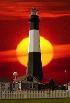 Georgia's Tybee Island Lighthouse Sunset
