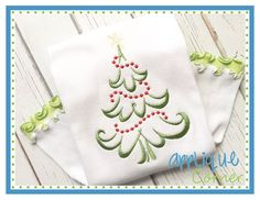 Christmas Tree Beaded Embroidery Design