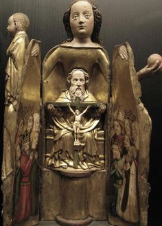 'Madonna Ouvrante' with Holy Trinity Inside, French c. 1400